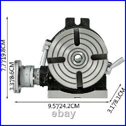 Rotary Table 6 4-Slot Horizontal Vertical Dividing Plates for Milling Machine