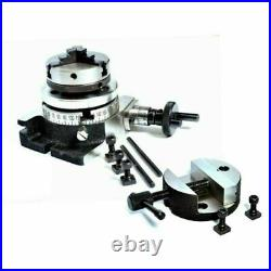"""100mm with 65mm Lathe Chuck /& Rotary Table Horizontal /& Vertical 4/"""" TAILSTOCK"""