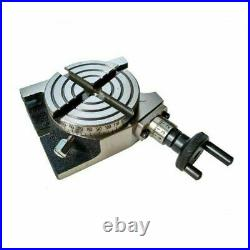 Rotary Table 80 mm 3 in 4 Slot With 50 mm Mini Lathe Chuck And Rotary Vice 80 mm