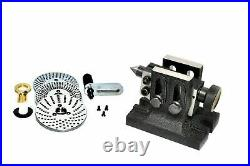 Rotary Table HV4+100mm Chuck+Backplate+Tailstock + Indexing Plate + clamping kit