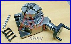 Rotary Table Horizontal And Vertical 4100mm With 65mm 4 Jaw Chuck & Backplate