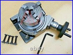 Rotary Table Horizontal And Vertical 4 100mm With 70mm 4 Jaw Chuck & Backplate
