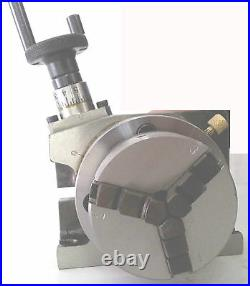 Rotary Table Horizontal & Vertical 3 75mm with65mm Lathe Chuck With Back Plate