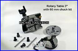 Rotary Table Horizontal & Vertical 3 Ratio 381 4 T slots Table + 65 mm Chuck