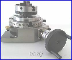 Rotary Table Horizontal & Vertical 4 / 100mm with 65mm Lathe Chuck for Milling