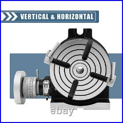 Rotary Table Horizontal Vertical Rotary Table 6 4-Slot for Milling Drilling HV6