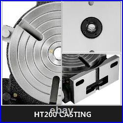 Rotary Table Horizontal Vertical Rotary Table 8 3-Slot for Milling Drilling