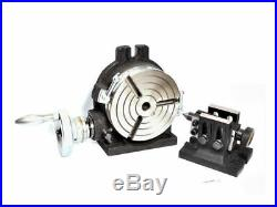 Rotary table 6 Horizontal & Vertical 3 Slot with Tailstock & M8 Clamping Kit