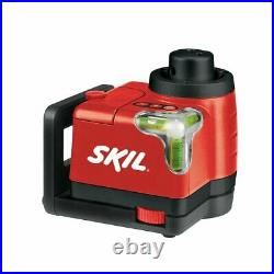SKIL 100ft. 360° Red Rotary Horizontal Vertical Laser Level, Tripod & Carry Bag