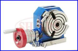 Shars 4'' High Quality Horizontal Vertical Rotary Table + Cert. New Save $157.59