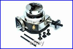 Tilting Rotary Table 3/80mm With 65mm Mini Scroll Lathe Chuck & Backplate