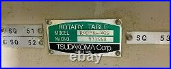 Tsudakoma RNCBK-402 CNC 15.7 (16) Rotary Table on Base RNCBK402