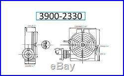 VERTEX 3900-2330 Horizontal/Vertical Rotary Table, 10 10