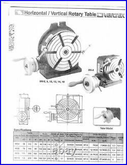 VERTEX HV-12 12 Horizontal / Vertical Rotary Table with Face Plate