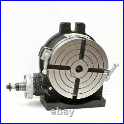 VERTEX HV-6 (4-Slot) 6 Horizontal/Vertical Rotary Table with 4-Slot Face Plate