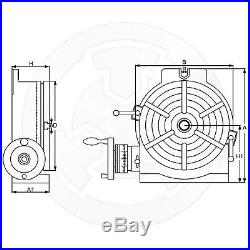 Vertex, Horizontal and Vertical Rotary Table, 12 inches, HV-12, 1001-004
