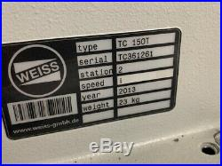Weiss Rotary Indexer Table TC 150T withWarranty