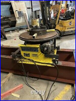 Welding Postioner Rotary Turn Table 3 Ton Cap Low Profile
