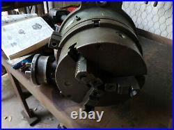 Yuasa horizontal/vertical precision rotary table with 10 three jaw yuasa Chuck